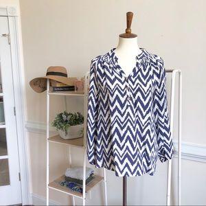 LILLY PULITZER Elsa silk chevron print tunic small